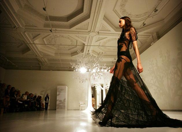 Jasper Conran's collection offered some sheer creations with a risqué appeal