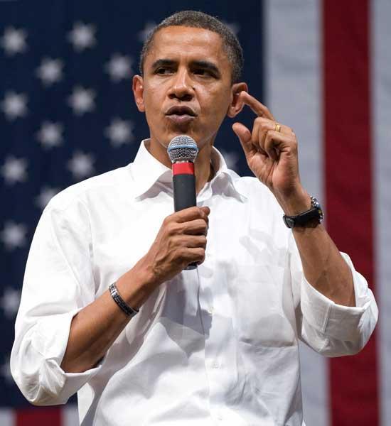 Barack Obama speaks during a rally in Virginia last week