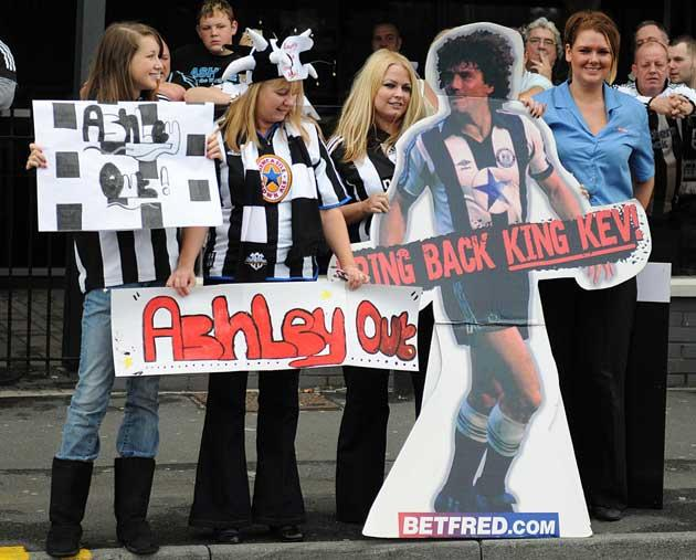 Fans demand the head of Mike Ashley and the return of Kevin Keegan