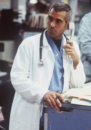 """The producers of ER have claimed that they are """"optimistic"""" about persuading George Clooney's character, Dr Doug Ross, to return to Chicago's County General"""