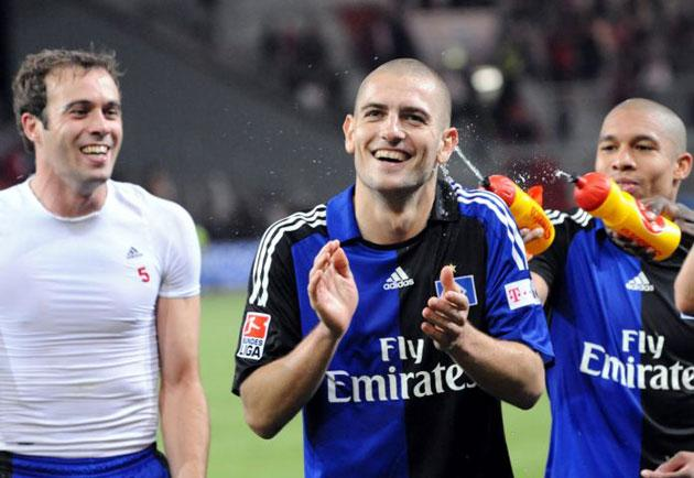 Mladen Petric, who scored Hamburg's second goal in the 90th minute