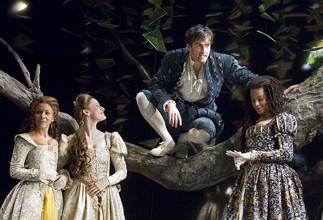 Love Labour's Lost, with David Tennant as Berowne, Kathryn Drysdale as Katherine, Mariah Gale as Princess of France, Nina Sosanya as Rosaline