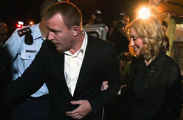Happier times? Madonna and  Guy Ritchie in Jerusalem last year