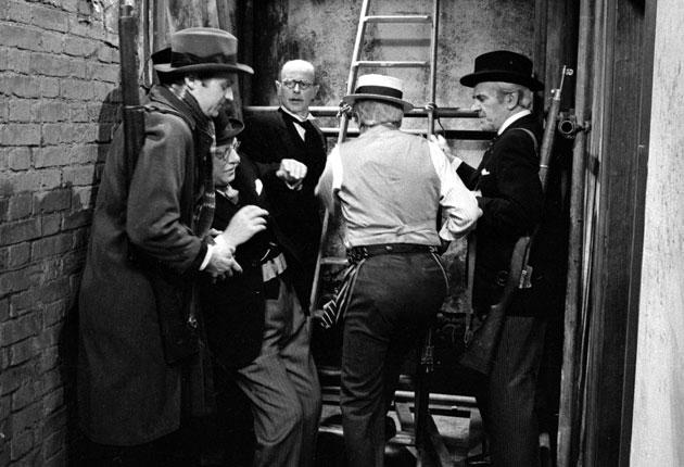 An episode of 'Dad's Army' with, left to right, Ian Lavender, Arthur Lowe, Eric Longworth, Clive Dunn and John Le Mesurier