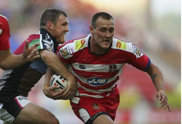 Wigan's Gareth Hock (right)  has redeemed himself in time to start for England at the World Cup