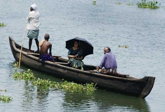 Back water: canal ferryman, Kerala-style