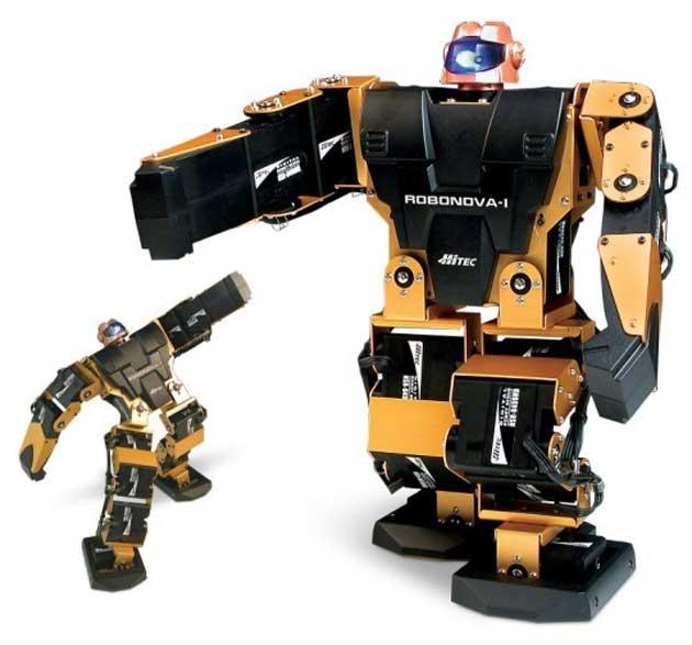 The Meccano Spykee Micro Robot (left) is easy to control while the the Robonova (right) is technologically streets ahead of most other robots in its price range