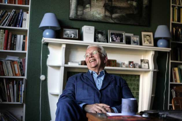 Andrew Davies at home in Kenilworth, where he says he wouldn't set a story: 'It's not a place to write about'