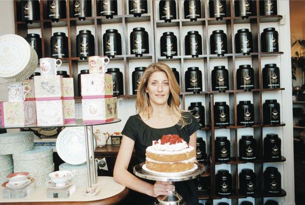 Owner Marianna Hadjigeorgiou says: 'I got fed up with not being able to get a decent cup of tea in a nice environment.'