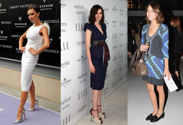 Victoria Beckham, Anne Hathaway, Alexa Chung