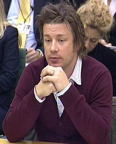 Jamie Oliver gives evidence before the Commons health committee