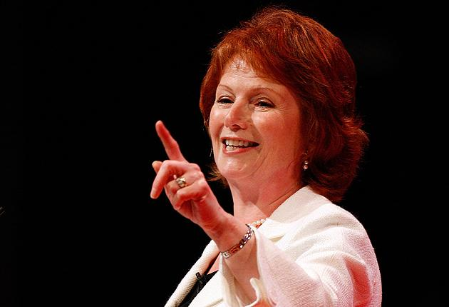 Hazel Blears addresses delegates at the Labour party conference in Manchester in September