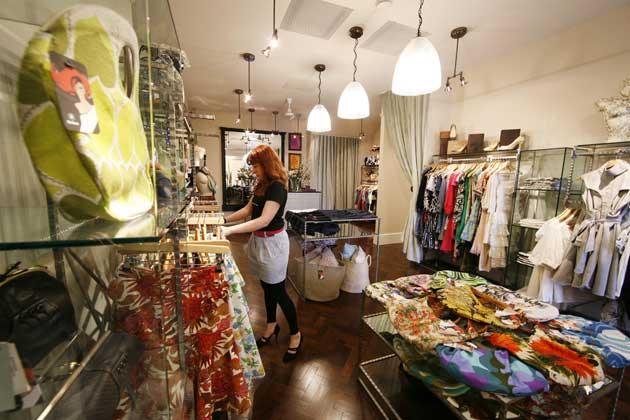 Chic and cheerful: an Oxfam shop in Notting Hill, London