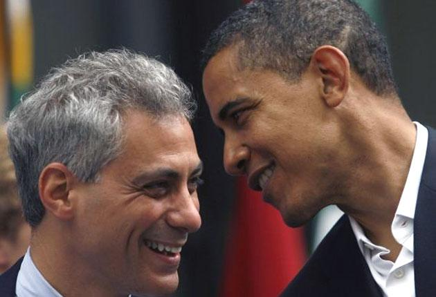 """The choice of Mr Emanuel was one of Obama's first decisions after becoming president-elect on Tuesday. Known as """"Rahmbo"""" to insiders, he has a reputation as one of Washington's most ferocious political operators"""