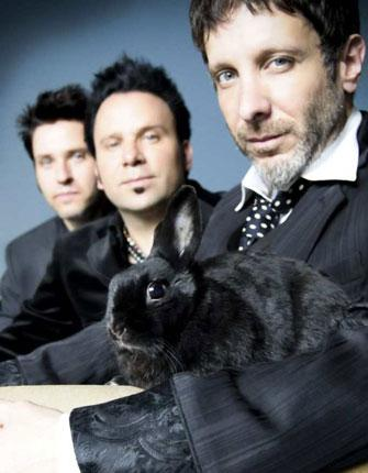 Where do they go from here? The ever-changing Mercury Rev, (from left) Jeff Mercel, Sean 'Grasshopper' Mackowiak and Jonathan Donahue