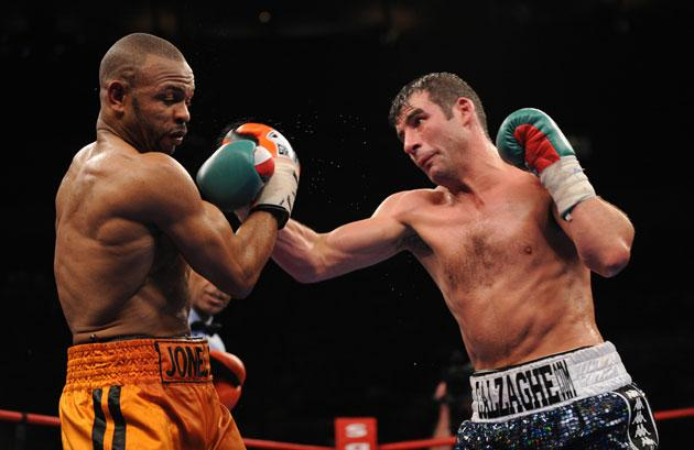 Joe Calzaghe punishes the veteran Roy Jones Jnr in an unequal bout in New York at the weekend