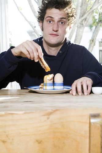 Valentine Warner's favourite comfort food includes baked beans with cheese, soft-boiled eggs and soldiers or good jamon eaten straight from the waxed paper