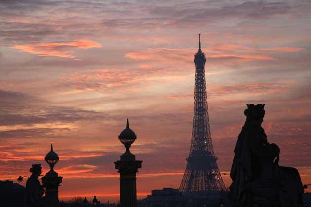 A full-frontal of the Eiffel Tower is the view that all visitors to Paris want