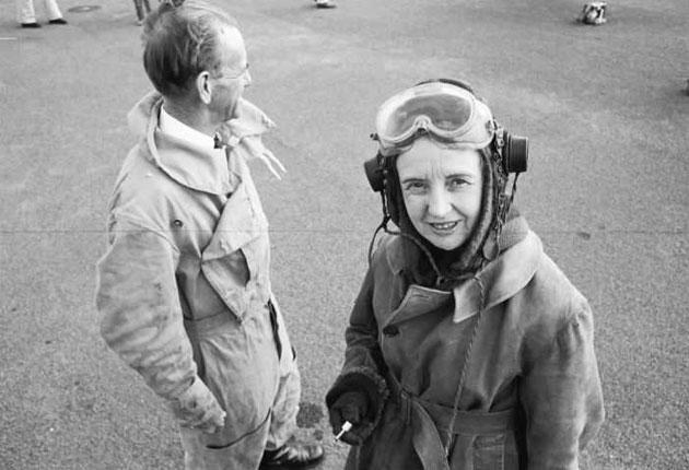 Brenda Hean and the pilot Max Price just before they left for Canberra in his Tiger Moth in 1972 to save Lake Pedder and its quartzite beach