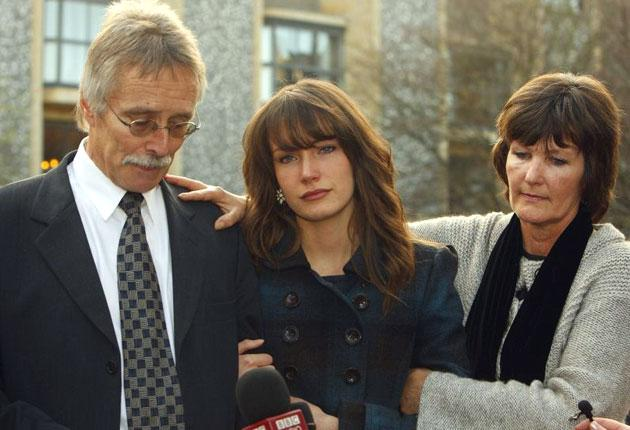 The family of Hannah Foster, who followed Hannah's killer halfway across the world as he fled justice, wept as the guilty verdict was returned at Winchester Crown Court