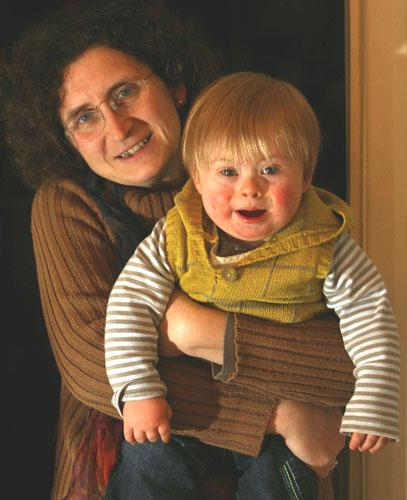 Paula Nono with her 15 months old son, Alex Priestman