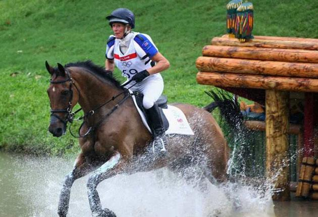 Mary King on her way to an Olympic team bronze medal with Call Again Cavalier at this year's Beijing Games. The pair are reunited for tomorrow's event in Cardiff where the prize for the winner will be £100,000