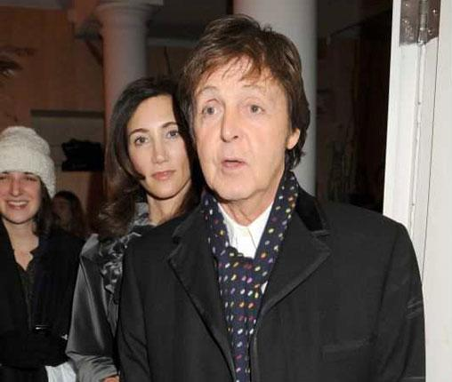 Sir Paul McCartney with his new partner, Nancy Shevell