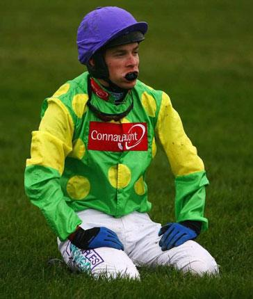 Sam Thomas after falling from Kauto Star 10 days ago