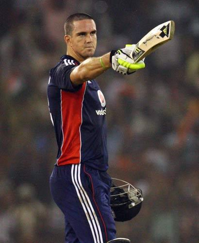 England captain Kevin Pietersen pictured during the one-day series last month