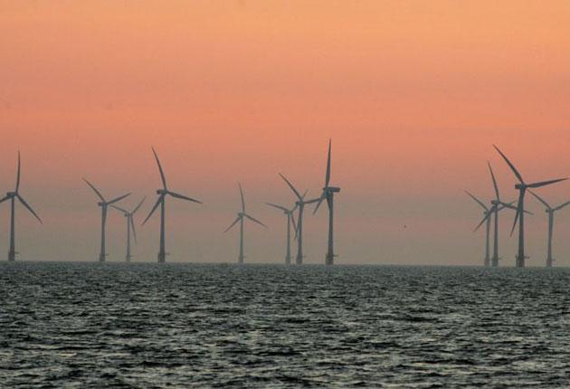 Npower said between 150 and 250 turbines will be built eight miles off the North Wales coast
