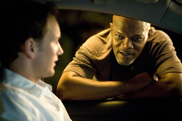 Samuel L Jackson plays Abel Turner, a Los Angeles cop and widower who's strict with his teenage son and daughter – he can alienate both of them before breakfast's over – and has a worryingly short fuse at work.