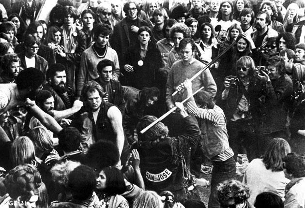 The Hells Angels were hired to run the security at Altamont; instead they ran amok
