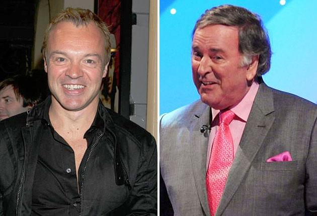 Graham Norton (left) is taking over the Eurovision commentator's role from Sir Terry Wogan