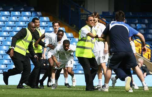 Evra was involved in a confrontation with Chelsea ground staff last season