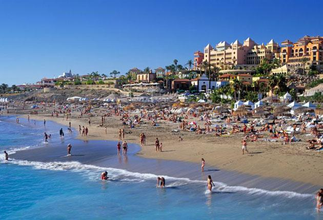 Family friendly: beach fun in Playa de Fanabe, Tenerife