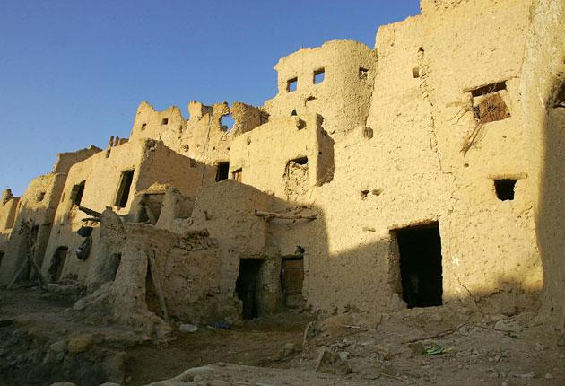 Ancient fortifications in Siwa, Egypt
