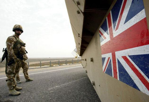 The British military has been moving equipment out of Iraq for some time