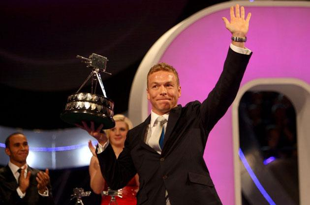 Chris Hoy lifts the BBC Sports Personality of the Year award for 2008 at the end of a roll-call of unparalleled achievement
