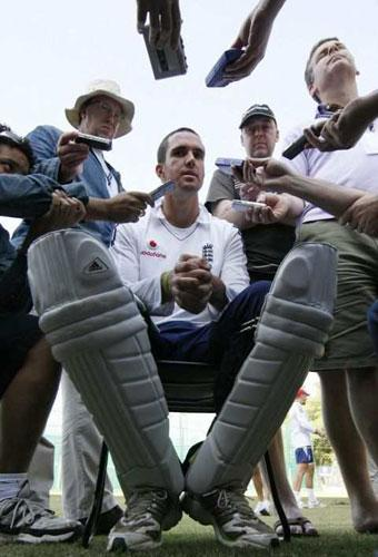 Kevin Pietersen is the centre of attention as England prepare for tomorrow's second Test against India