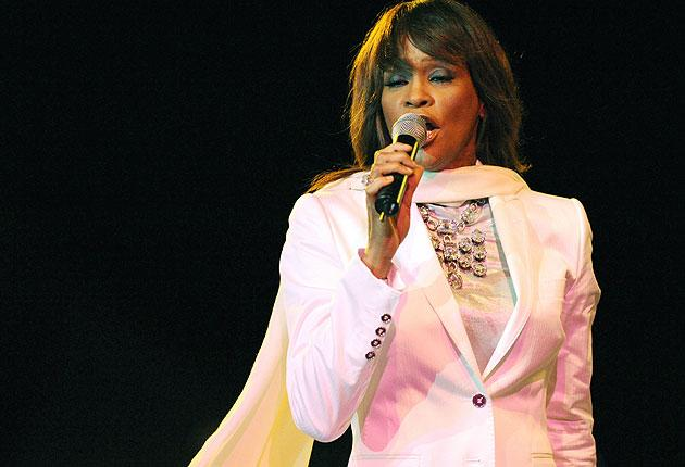 Whitney Houston performing in May 2008 in Rabat