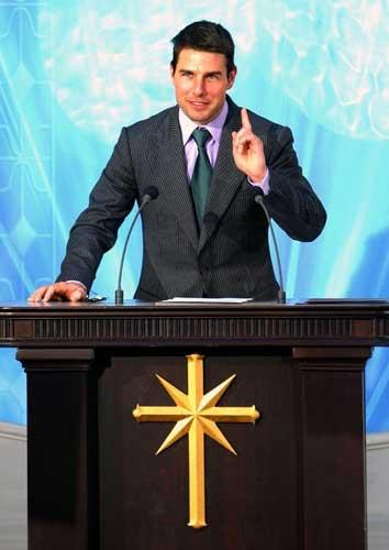 Star attraction: high-profile actors such as Tom Cruise help win converts to the Church founded by L Ron Hubbard