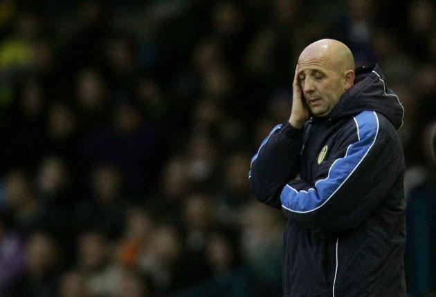 Pressure point: Gary McAllister was sacked after Leeds lost to MK Dons 3-1 on Saturday