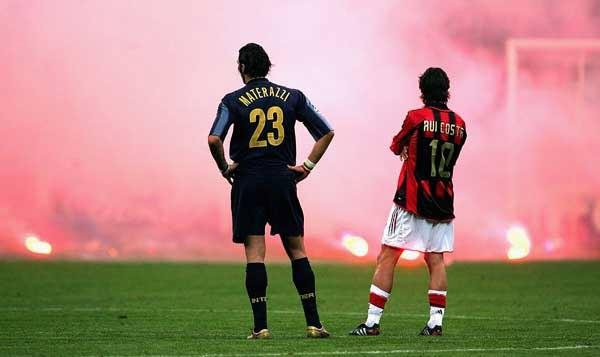 One of the year's top football stories concerned the Brazilian playmaker Ronaldino making his debut in the Milan derby