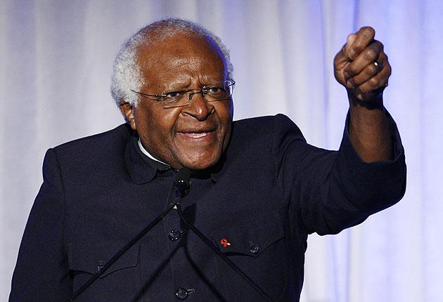 """Desmond Tutu: """"How much more suffering is going to make us say 'No we have given Mr Mugabe enough time?'."""""""
