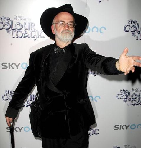"""Sir Terry Pratchett, the 60-year-old writer, whose first book was published in 1971, told The Independent last night: """"I'm having difficulty fitting it into my head. I'm very pleased indeed. It cheers me up no end."""""""