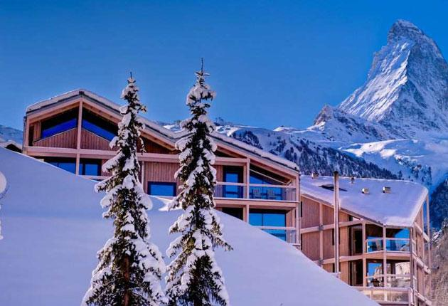 The hotel, which opened last summer, stands just above the Matterhorn Express gondola, the centre of the Zermatt lift system. It is also just a 15-minute walk from the village centre.