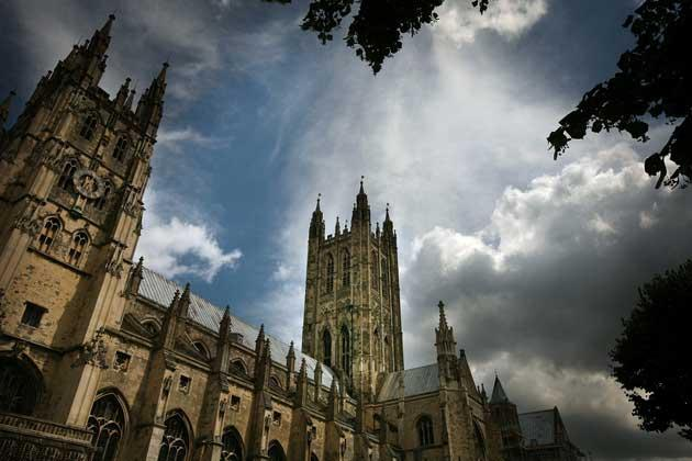 Canterbury cathedral is attracting many more visitors than usual, many through Kent ports