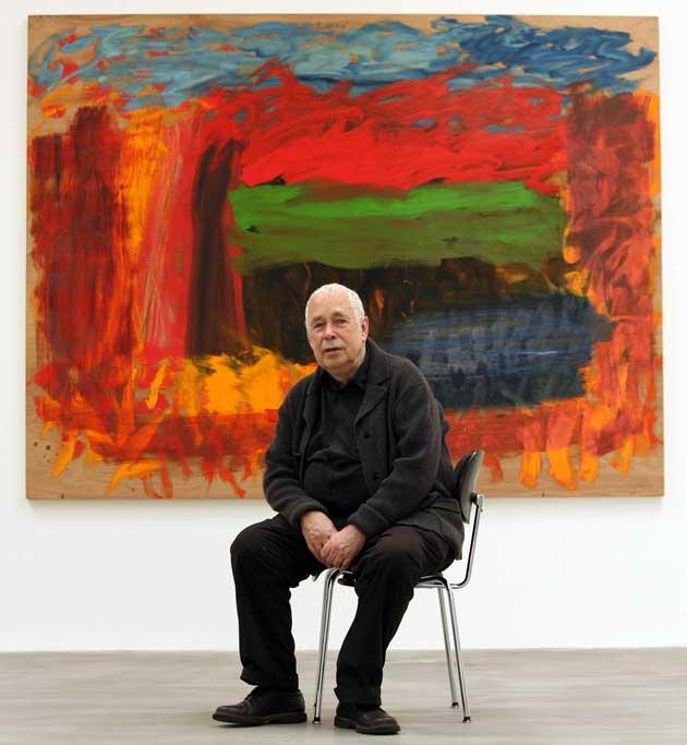 Eloquence in pigment: Howard Hodgkin in front of his recent painting 'Home, Home on the Range'