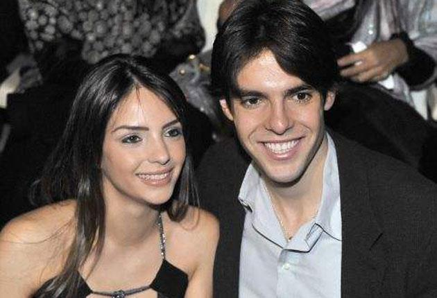 Paul Chadwick the butcher  is hoping Kaka, and his wife Caroline (pictured) pay him a visit