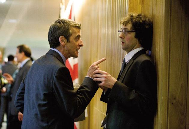 Peter Capaldi and Chris Addison star in Armando Iannucci's 'In the Loop', in which Capaldi reprises his 'The Thick of It' role as a scheming spin doctor